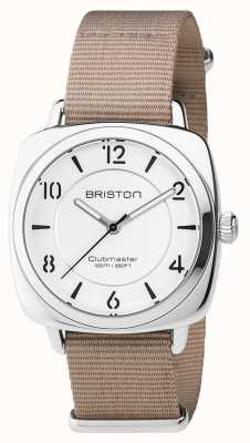 Briston ユニセックスクラブマスターナイトストラップ付きシックなベージュスチール 17536.S.L.2.NT