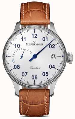 MeisterSinger メンズ腕時計パワーリザーブ手巻きオパリン銀 CCP301
