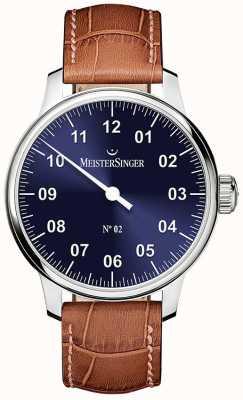 MeisterSinger メンズクラシックノー2手巻きサンバーストブルー AM6608N