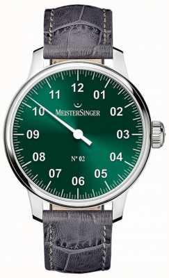 MeisterSinger メンズクラシックノー2手巻きサンバースグリーン AM6609N