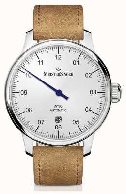 MeisterSinger メンズクラシックノー自動40mmオパリン銀3本 DM901