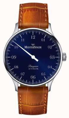 MeisterSinger メンズクラシックパンゲア自動サンバーストブルー PM908