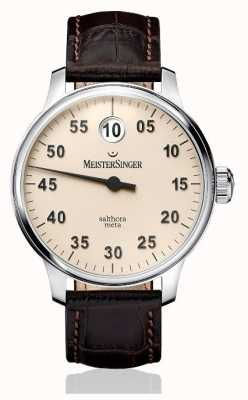 MeisterSinger メンズクラシックプラスサルトラメタ自動アイボリー SAM903