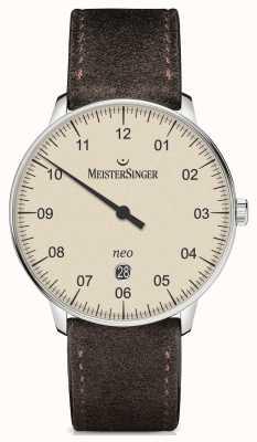 MeisterSinger メンズフォームとスタイルネオプラス自動アイボリー NE403