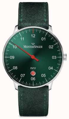 MeisterSinger メンズフォームとスタイルネオプラス自動サンバーストグリーン NE409