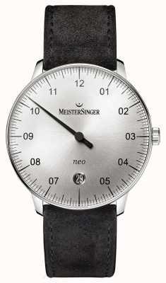 MeisterSinger メンズフォームとスタイルネオオートサンバーストシルバー NE901N