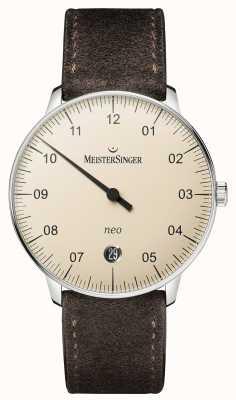 MeisterSinger メンズのフォルムとスタイルのネオオートマチックアイボリー NE903N