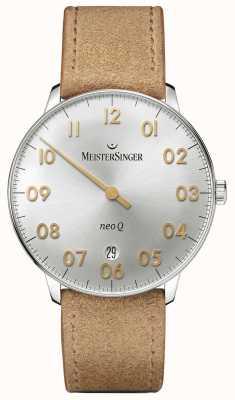 MeisterSinger メンズフォームとスタイルネオq quarzサンバーストシルバー NQ901GN