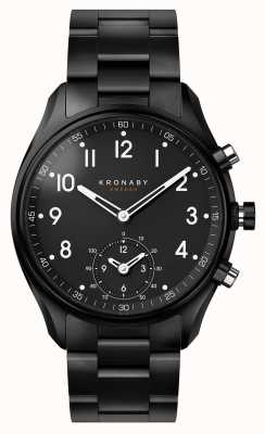 Kronaby 43mm Apex Bluetooth Black PVDメタルストラップA1000-0731 S0731/1