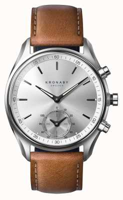 Kronaby 43mmセケルブルートゥースタンニングブラウンレザーA1000-0713 S0713/1