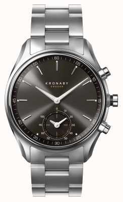 Kronaby 43mmセケルブルートゥースブラックダイヤルステンレス鋼A1000-0720 S0720/1