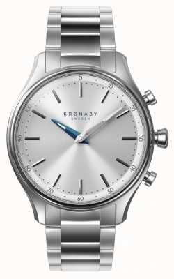 Kronaby 38mmセッケルブルースチールブレスレットスマートウォッチ A1000-0556