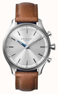 Kronaby 38mmセケルステンレスブラウンレザーストラップA1000-0658 S0658/1