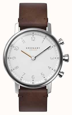 Kronaby 38mm nordブルートゥレザーストラップスマートウォッチ A1000-0711