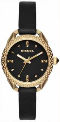Diesel レディースshawtyブラックとゴールドウォッチ DZ5547
