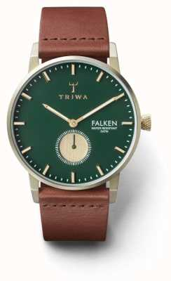 Triwa メンズパインフォルケンブラウンレザーグリーンダイヤル FAST112-CL010217