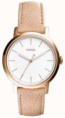 Fossil レディースニーリーベージュレザーストラップ ES4185