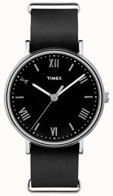 Timex メンズサウスビュー41mmブラックダイヤルブラックストラップ TW2R28600
