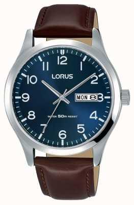 Lorus メンズタウンドレスクラシックブラウンレザーストラップ RXN49DX9