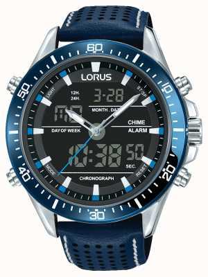 Lorus メンズスポーツアナログ/デジタルクロノグラフブルー RW643AX9