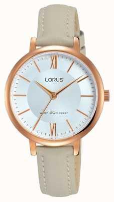 Lorus レディースサンレイダイヤルソフトグレーレザーストラップ RG264LX7