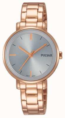 Pulsar レディースバラゴールドステンレススチールブレスレットグレーダイヤル PH8362X1