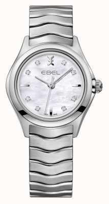 EBEL ウェーブ女性のダイヤモンドは、ステンレススチールの時計を設定します。 1216193