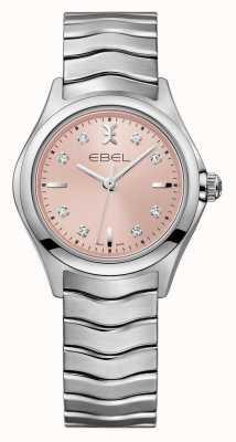 EBEL ウェーブレディースピンクダイヤルステンレススチール時計 1216217