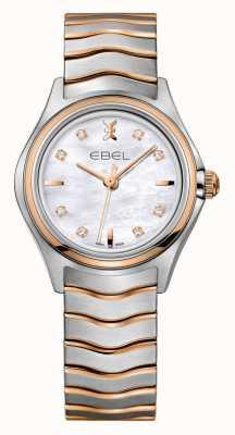 EBEL ウェーブレディースダイヤモンドツートーンローズゴールドウォッチ 1216324