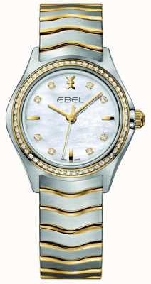 EBEL ウェーブレディースツートーンダイヤモンドセットウォッチ 1216351