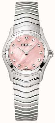 EBEL レディースクラシック12ダイヤモンドセットピンクダイヤルステンレス 1216279
