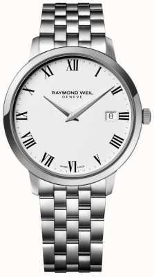 Raymond Weil Mens toccataステンレススチールブレスレットホワイトダイヤル 5588-ST-00300