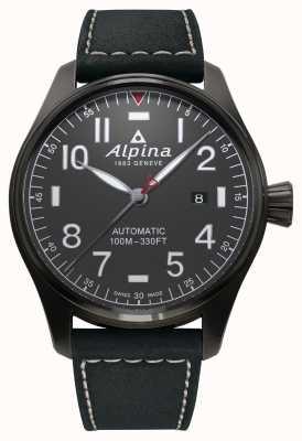 Alpina メンズスターマーパイロットオートマチックブラックストラップ AL-525G4TS6