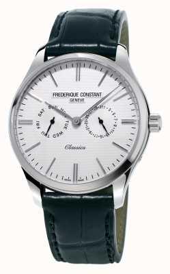 Frederique Constant メンズクラシックブラックレザーストラップ/グリーンナイトストラップ FC-259ST5B6