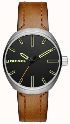 Diesel Mens klutchブラウンレザーストラップ DZ1831
