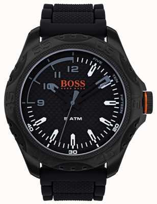 Hugo Boss Orange メンズホノルルウォッチブラックラバー 1550032