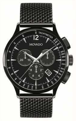 Movado クロノグラフクロノグラフブラッククロノグラフ 0606804