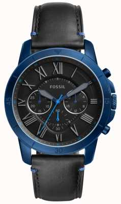 Fossil メンズグラントクロノグラフブラックとブルー FS5342