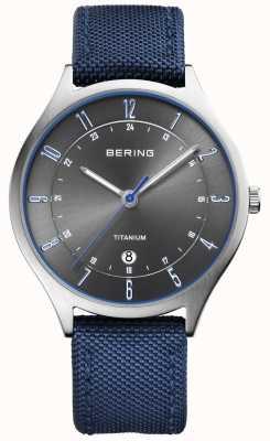 Bering メンズ超軽量チタンナイロンブルー 11739-873
