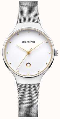 Bering レディースクラシックデイトシルバーミラノストラップ 13326-001