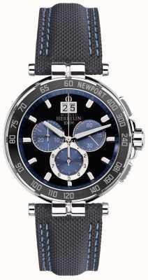 Michel Herbelin メンズニューポートヨットクラブ、ブラック、ブルー 36656/AN65