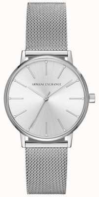 Armani Exchange 女子ステンレスメッシュブレスレット AX5535