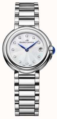 Maurice Lacroix 女性のfiaba 28ミリメートルダイヤモンドセット腕時計 FA1003-SS002-170-1