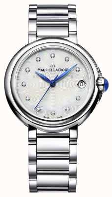Maurice Lacroix 女性のfiaba 32ミリメートルダイヤモンドセット腕時計 FA1004-SS002-170-1