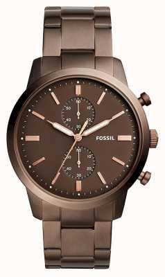 Fossil メンズタウンズマンクロノグラフブラウン FS5347