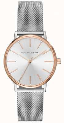 Armani Exchange 女子ステンレスメッシュブレスレットの腕時計 AX5537