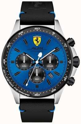 Scuderia Ferrari メンズパイロットブルークロノグラフダイヤルウォッチ 0830388