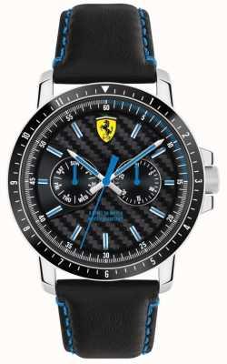 Scuderia Ferrari ターボブラックレザーストラップ 0830448