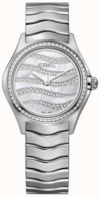 EBEL レディースウェーブ94ダイヤモンドステンレススチール腕時計 1216270
