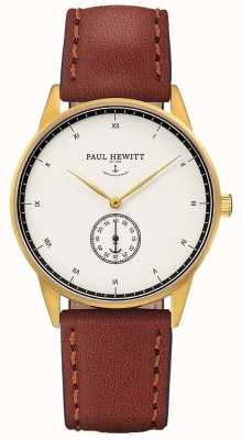 Paul Hewitt ユニセックスシグネチャーブラウンレザーストラップ PH-M1-G-W-1M